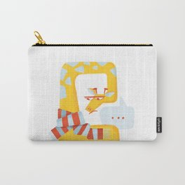 Grumpy Christmas Giraffe Carry-All Pouch
