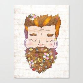 Flower beard Canvas Print