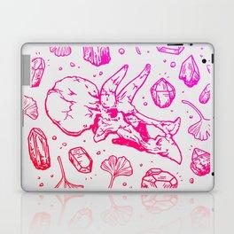 Triceratops Rocks! | Fiery Pink Ombré Laptop & iPad Skin