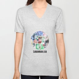 Savannah, GA Unisex V-Neck