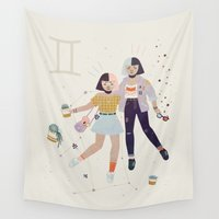 gemini Wall Tapestries featuring Gemini by LordofMasks