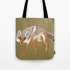 Wolves of The World (Canis latrans) Coyote (c) 2017 Tote Bag