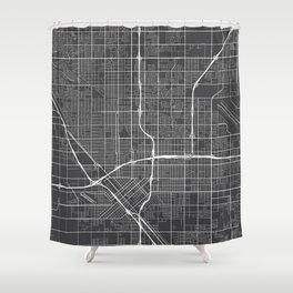 Fresno Map, USA - Gray Shower Curtain
