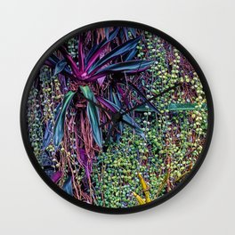 Breathtaking Rain Tree Wall of Wonder: Marquesas Islands Wall Clock