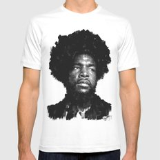 Questlove MEDIUM Mens Fitted Tee White
