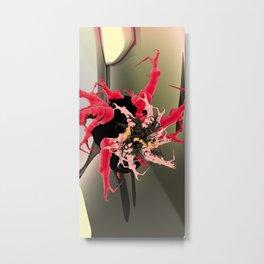 fleur les mot Metal Print