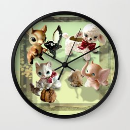 Whimsical Squad Wall Clock