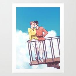 flying castle  Art Print