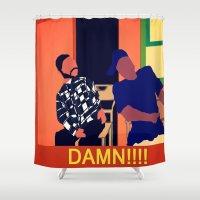 friday Shower Curtains featuring Friday by Courtney Ladybug Johnson