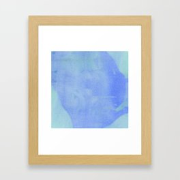 ocean wave water color abstract Framed Art Print