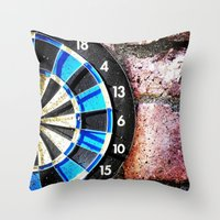chess Throw Pillows featuring chess by gzm_guvenc