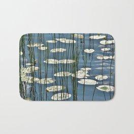 Yellow waterlily Bath Mat