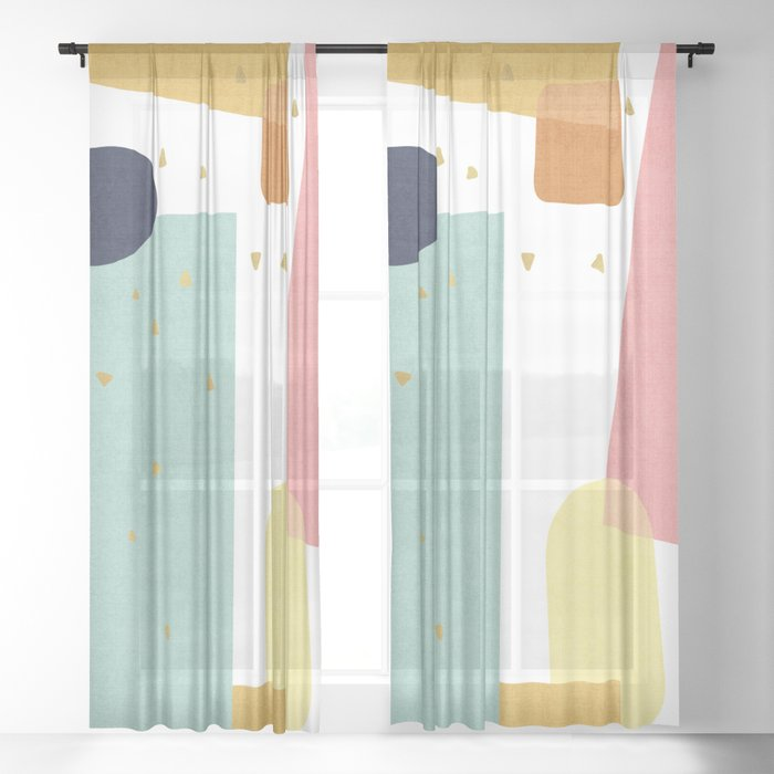 Confetti in Pastel Sheer Curtain