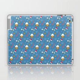 Happy New Year Merry Christmas winter holidays Laptop & iPad Skin