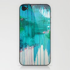 BLUE MONSOON - Stunning Rain Storm Dark Teal Clouds Navy Royal Blue Kelly Green Crimson Red Purple iPhone & iPod Skin