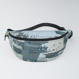 AIRCRAFT CARRIER VISITING LIVERPOOL Fanny Pack