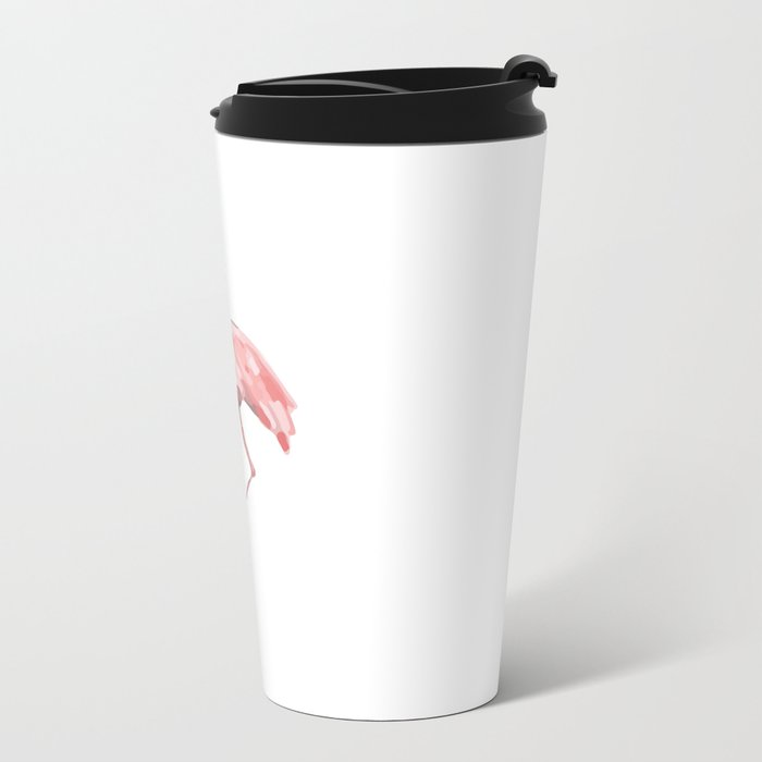 Flamingo Metal Travel Mug