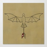 toothless Canvas Prints featuring Toothless by jozi.art