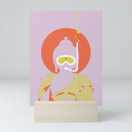 Buddha : Take A Deep Breath! (PopArtVersion) Mini Art Print