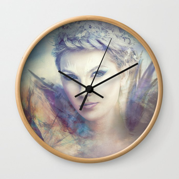 Lady feather Wall Clock