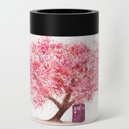 Tardis Tree Art Blossom Can Cooler