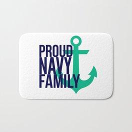 Proud Navy Family Bath Mat