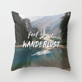 Feel your Wanderlust Throw Pillow