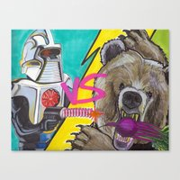 battlestar Canvas Prints featuring Bears Beets Battlestar Galactica by monsterlash