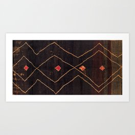 Feiija  Antique South Morocco North African Pile Rug Art Print