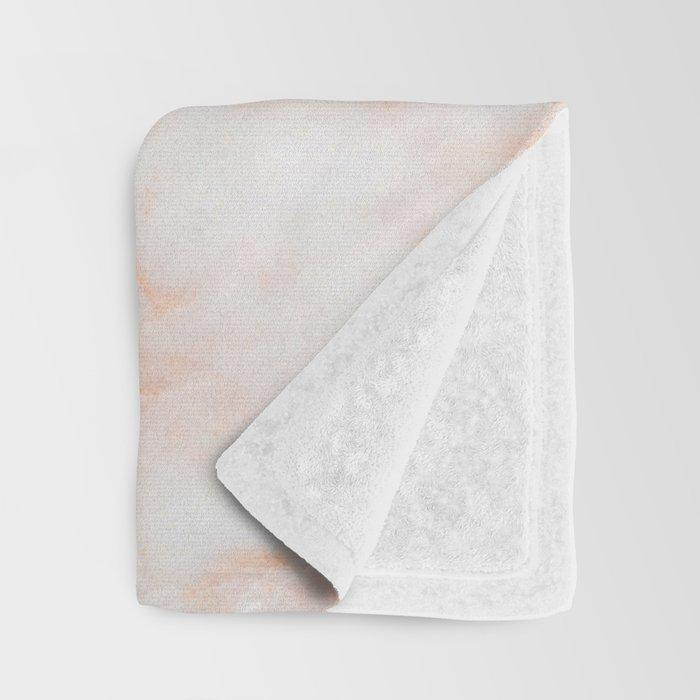 Softest blush pink marble Throw Blanket