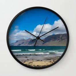 Famara Beach, Lanzarote Wall Clock
