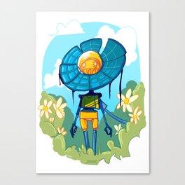 Flower Robot Canvas Print
