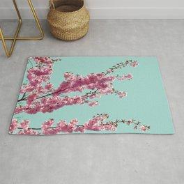 Japanese Cherry Blossom Tree Rug