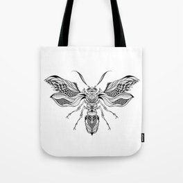 WASP beetle psychedelic / zentangle style Tote Bag