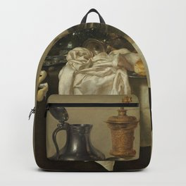 Willem Claeszoon Heda - Banquet Piece with Mince Pie Backpack