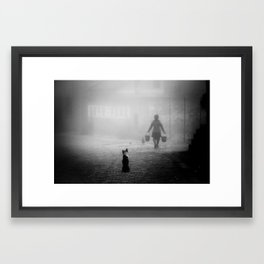 A dog in China Framed Art Print
