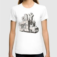 shopping T-shirts featuring Shopping Truck by Mitt Roshin