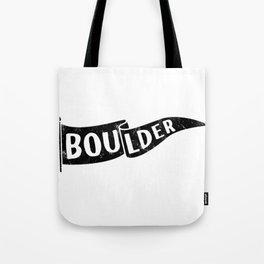 Boulder Colorado Pennant Flag // University College Dorm Room Graphic Design Decor Black & White Tote Bag