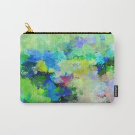 Original Green Abstract Painting on Canvas Carry-All Pouch