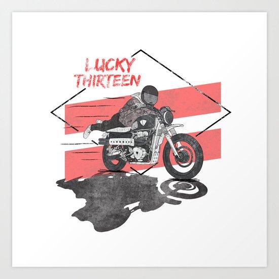 Lucky Thirteen Art Print