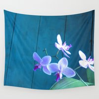 orchid Wall Tapestries featuring Orchid by Cyrille Savelieff