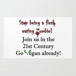 Stop Eating Flesh Rug