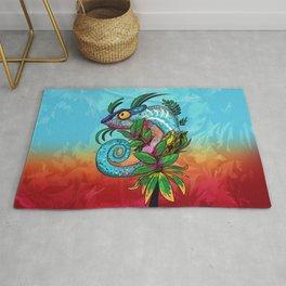 Rainbow Chameleon Rug