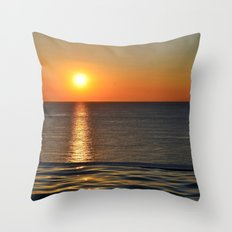 Super Sunset at the Beach Throw Pillow