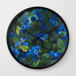 A Blueberry View Wall Clock