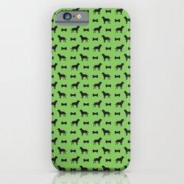 Dog and Bone - Labrador Mini (lime) iPhone Case