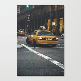 My Favourite Yellow Cab, NYC Canvas Print