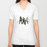 atlanta V-neck T-shirts featuring Team Atlanta by Six Pixel Design