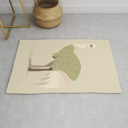 Whimsical Emu Rug
