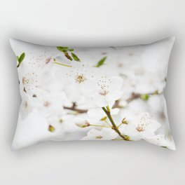 White blooming Rectangular Pillow